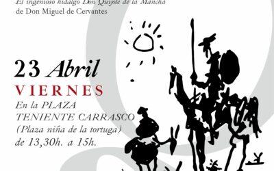 Lectura Pública y Colectiva de El Quijote por el Día Internacional del Libro | 23 abril en la Plaza de la Niña de la Tortuga