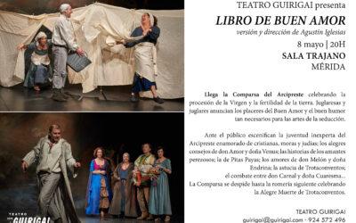 GIRA | 8 MAYO | 'LIBRO DE BUEN AMOR' EN SALA TRAJANO DE MÉRIDA